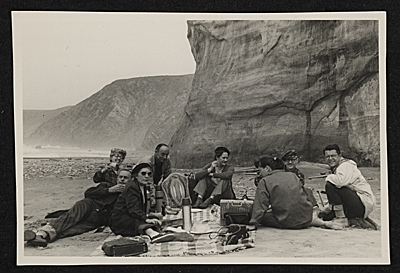 Group at a picnic