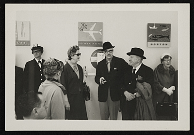 [Hans Hofmann and Erle Loran at an airport]