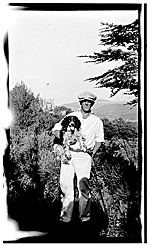 Marsden Hartley and his dog in Aix en Provence, France
