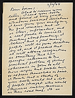 Stuart Davis, New York, N.Y. letter to Erle Loran, Berkeley, Calif.