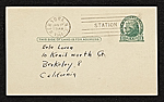 [Stuart Davis, New York, N.Y. postcard to Erle Loran, Berkeley, Calif. verso 1]