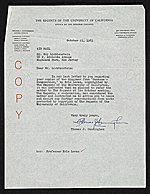 Thomas J. Cunningham, Berkeley, Calif. letter to Roy Lichtenstein, Highland Park, N.J.