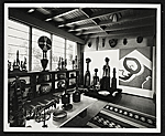 Erle Lorans African Art collection in his home