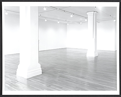 [Installation view of a Laurie Parsons show at the Lorence-Monk Gallery]