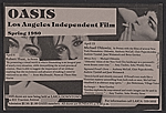 [Flyer for Los Angeles Independent Film Oasis presentations and film screenings ]