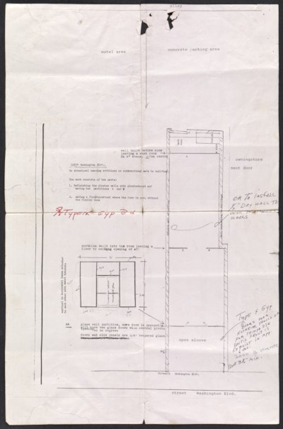 [Plan and specifications for 12839 Washington Blvd in Los Angeles, CA]