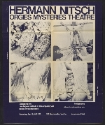 [Exhibition poster for Hermann Nitsch's Orgies mysteries theatre ]