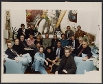[Louis and Susan Meisel in their loft with Photorealist artists at a party for Photorealism since 1980]