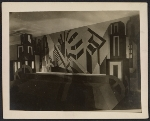 [Fashiong show stage set designed by Louis Lozowick for Lord & Taylor centennial ]