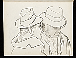 [Two men with hats]
