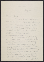 Ivan Albright letter to Earle Ludgin