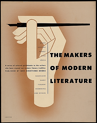 [The Makers of Modern Literature poster design]