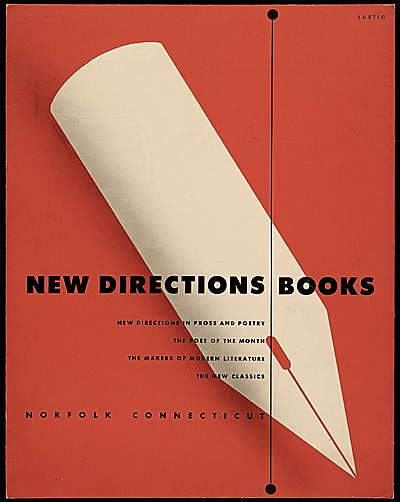 [New Directions Books poster design]