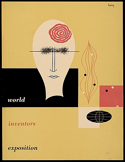 [World Inventors Exposition catalogue cover designed by Alvin Lustig]