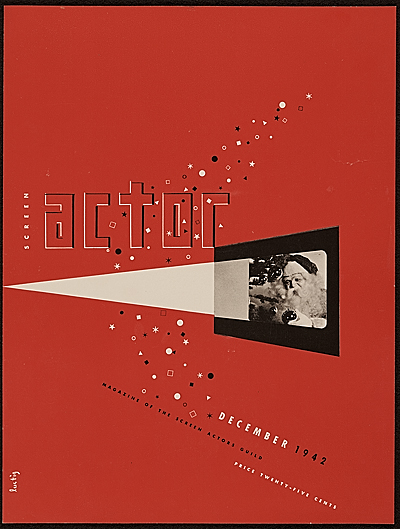 Screen Actor magazine cover designed by Alvin Lustig