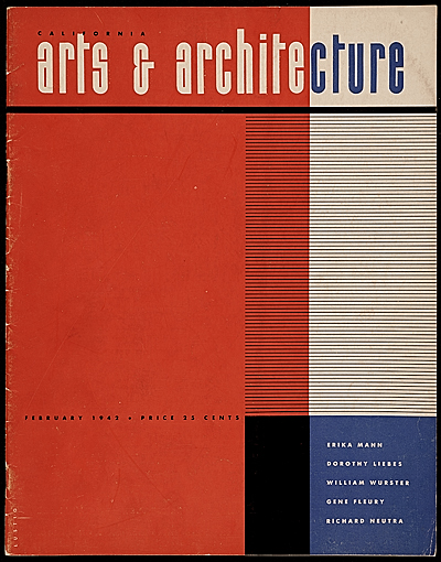 [California Arts & Architecture magazine cover design by Alvin Lustig]