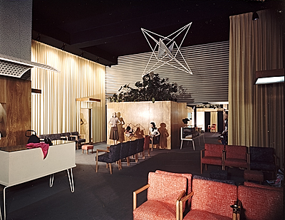 [Sheela's clothing store designed by Alvin Lustig.  Interior view]