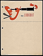 Stationery for The lookout designed by Alvin Lustig