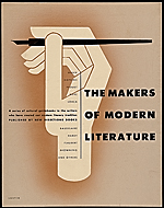 The Makers of Modern Literature poster design