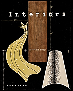 Cover of Interiors magazine cover designed by Alvin Lustig
