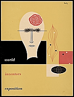 World Inventors Exposition catalogue cover designed by Alvin Lustig