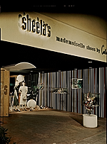 Storefront display at Sheelas department store