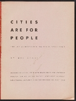 [Cities are for people: the Los Angeles region plans for living page 1]