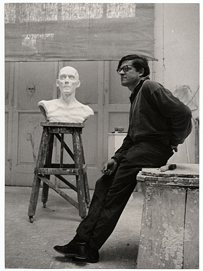 Robert Winthrop White in his studio