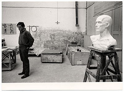 [Robert Winthrop White in his studio]