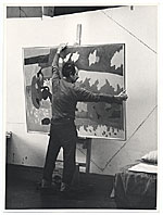 Gregorio Prestopino with painting