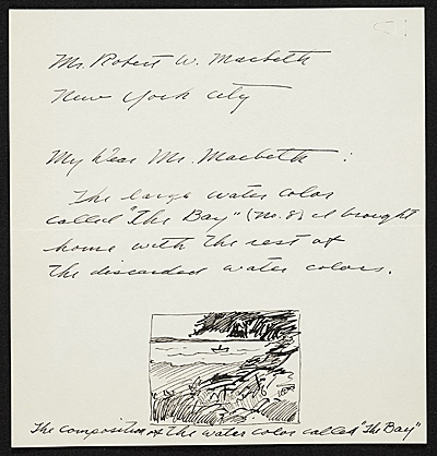 [Andrew Wyeth letter to Robert Macbeth]