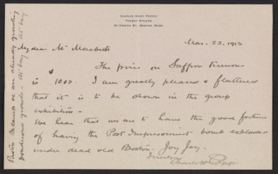 Charles Hovey Pepper letter to Robert W. Macbeth