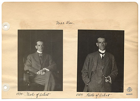 Two photographs of Elmer L. MacRae