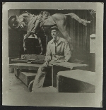 [Frederick William MacMonnies with equestrian statue]