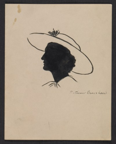 Silhouette portrait of a woman