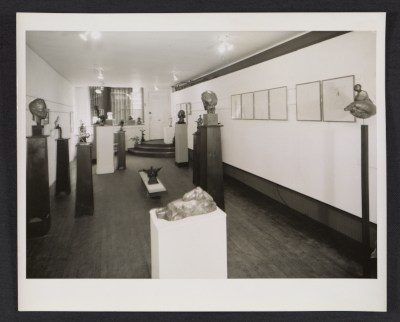 Installation view of a Gaston Lachaise exhibition at the Margaret Brown Gallery