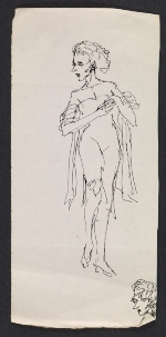 Pen and ink sketches of female figures
