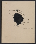 [Silhouette portrait of a woman ]