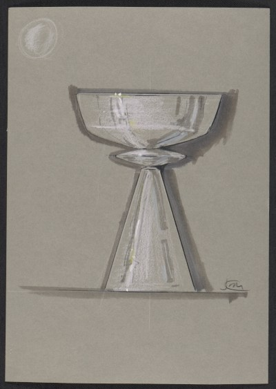 [Sketch of a silver goblet]