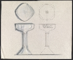 John Marshall sketch of an inscribed silver goblet