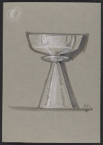 Sketch of a silver goblet