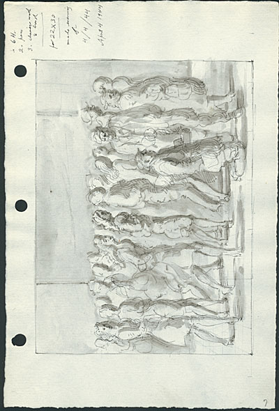 Study for the painting, Fourteenth Street Frieze