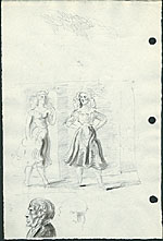 [Study for the painting, Fourteenth Street Frieze verso ]