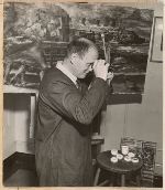 Reginald Marsh at work