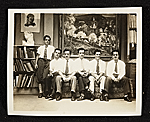 The Martino Brothers of the Martino Commercial Art Studio in  Philadelphia. From left to right:  Edward, Albert, Giovanni, Antonio, William, and Ernest