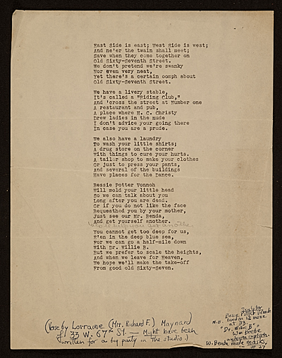 East side is east; West Side is west