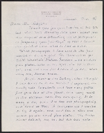 Maxfield Parrish letter to A. Hyatt (Alpheus Hyatt) Mayor