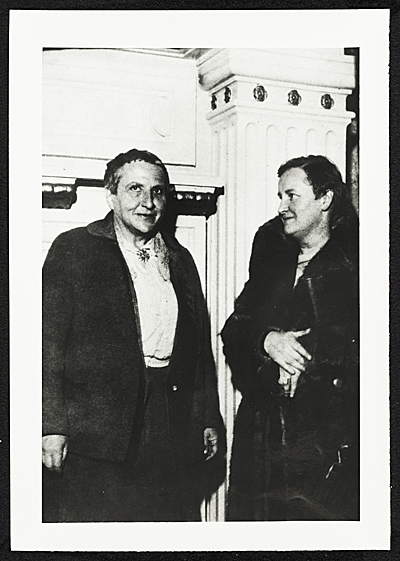 [Gertrude Stein and Elizabeth McCausland]