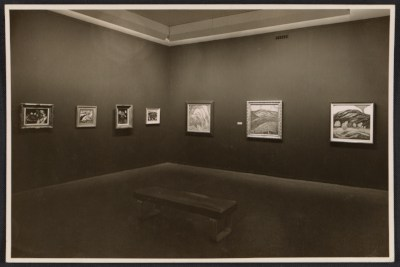 [An installation view of Marsden Hartley's Museum of Modern Art exhibition]