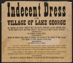 Notice of dress code in Lake George, N.Y., given to Elizabeth McCausland by Alfred Stieglitz